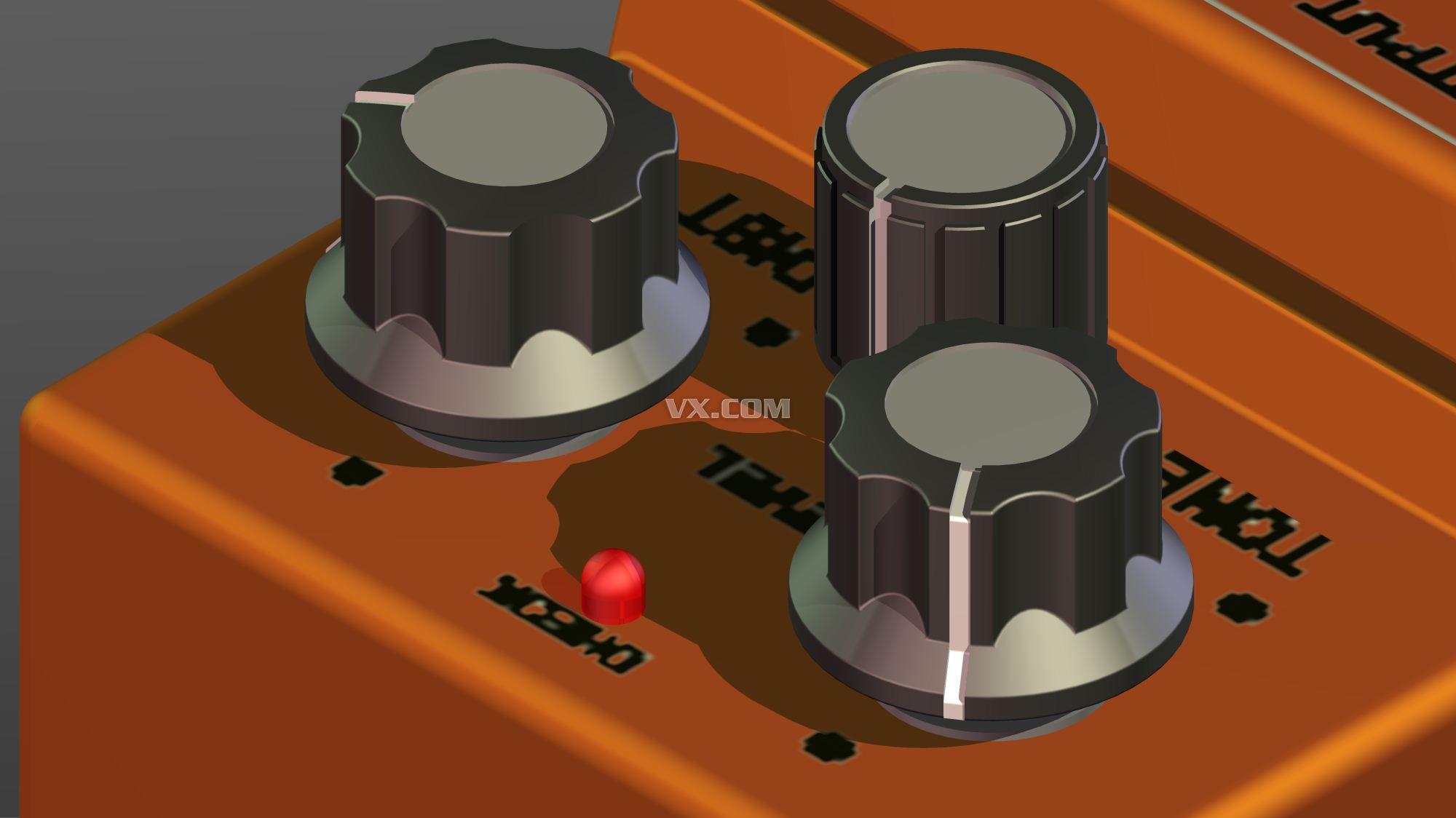 inventor电吉他失真效果器设计