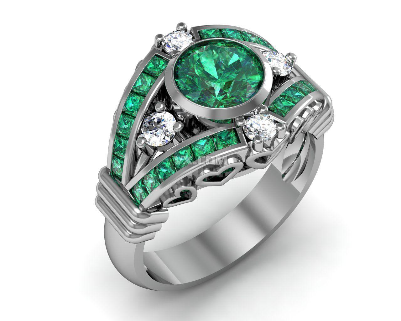 钻石戒指三维设计_step/stp_珠宝首饰_3d模型_图纸
