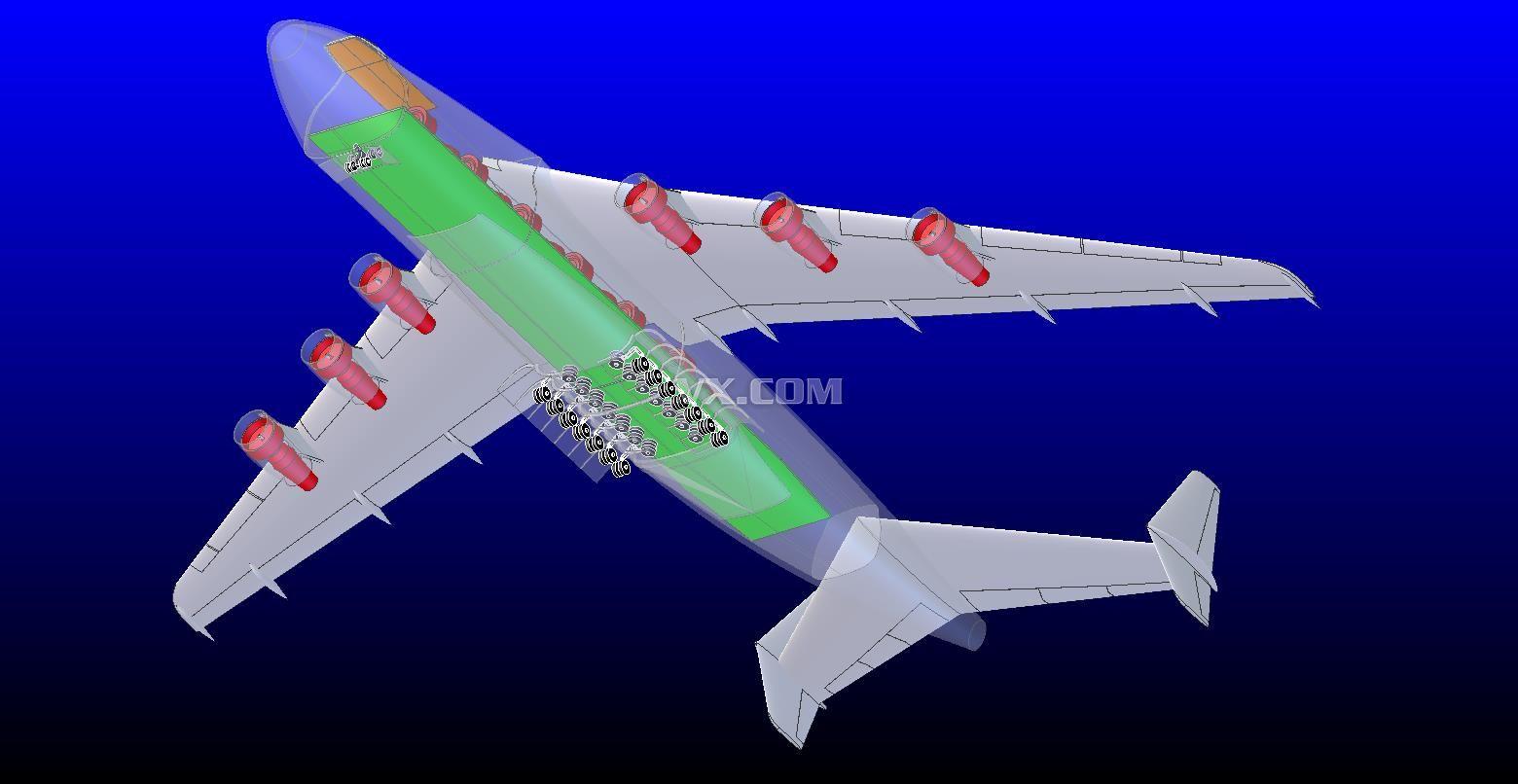225年战略运输机设计图_stl_航天航空_3d模型_图纸