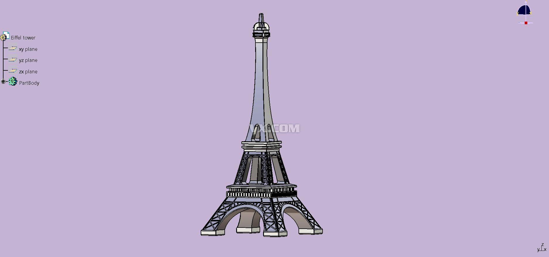 埃菲尔铁塔(法语:La Tour Eiffel;英语:Eiffel Tower)矗立在法国巴黎的战神广场,是世界著名建筑,也是法国文化象征之一,巴黎城市地标之一,也是巴黎最高建筑物,高300米,天线高24米,总高324米,是巴黎最高的建筑物,于1889年建成,得名于设计它的著名建筑师、结构工程师古斯塔夫埃菲尔。 铁塔设计新颖独特,是世界建筑史上的技术杰作,是法国巴黎的重要景点和突出标志。 1889年5月15日,为给世界博览会开幕典礼剪彩,铁塔的设计师居斯塔夫埃菲尔亲手将法国国旗升上铁塔的300米高空,由