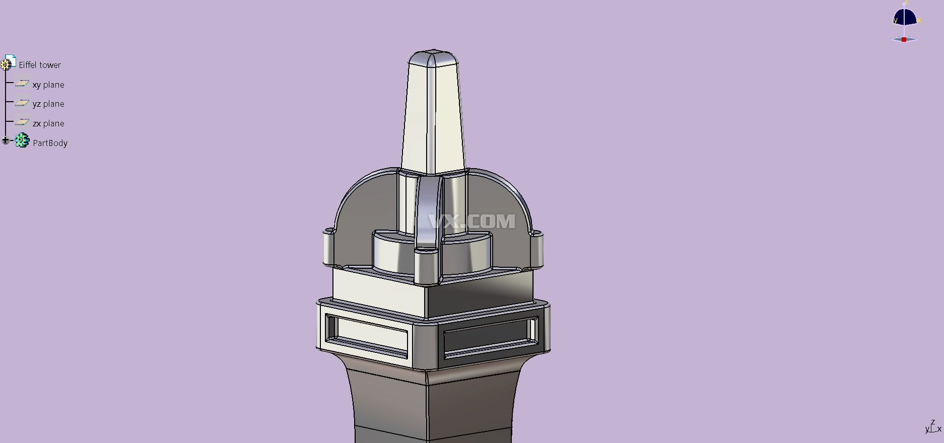 埃菲尔铁塔模型制作展示_设计图分享