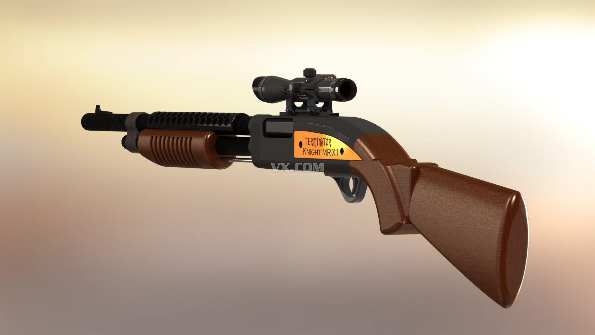 玩具散弹枪结构图