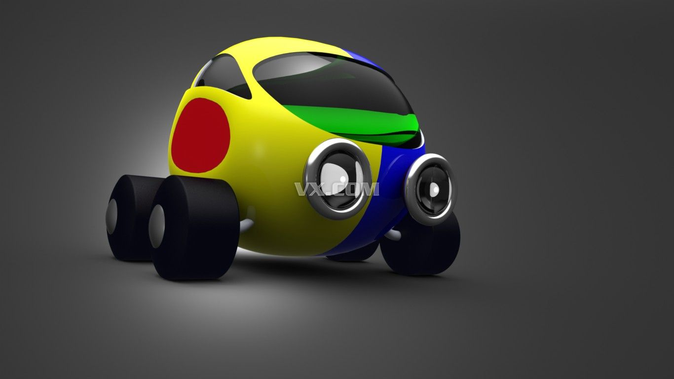 小汽车3d模型_solidworks
