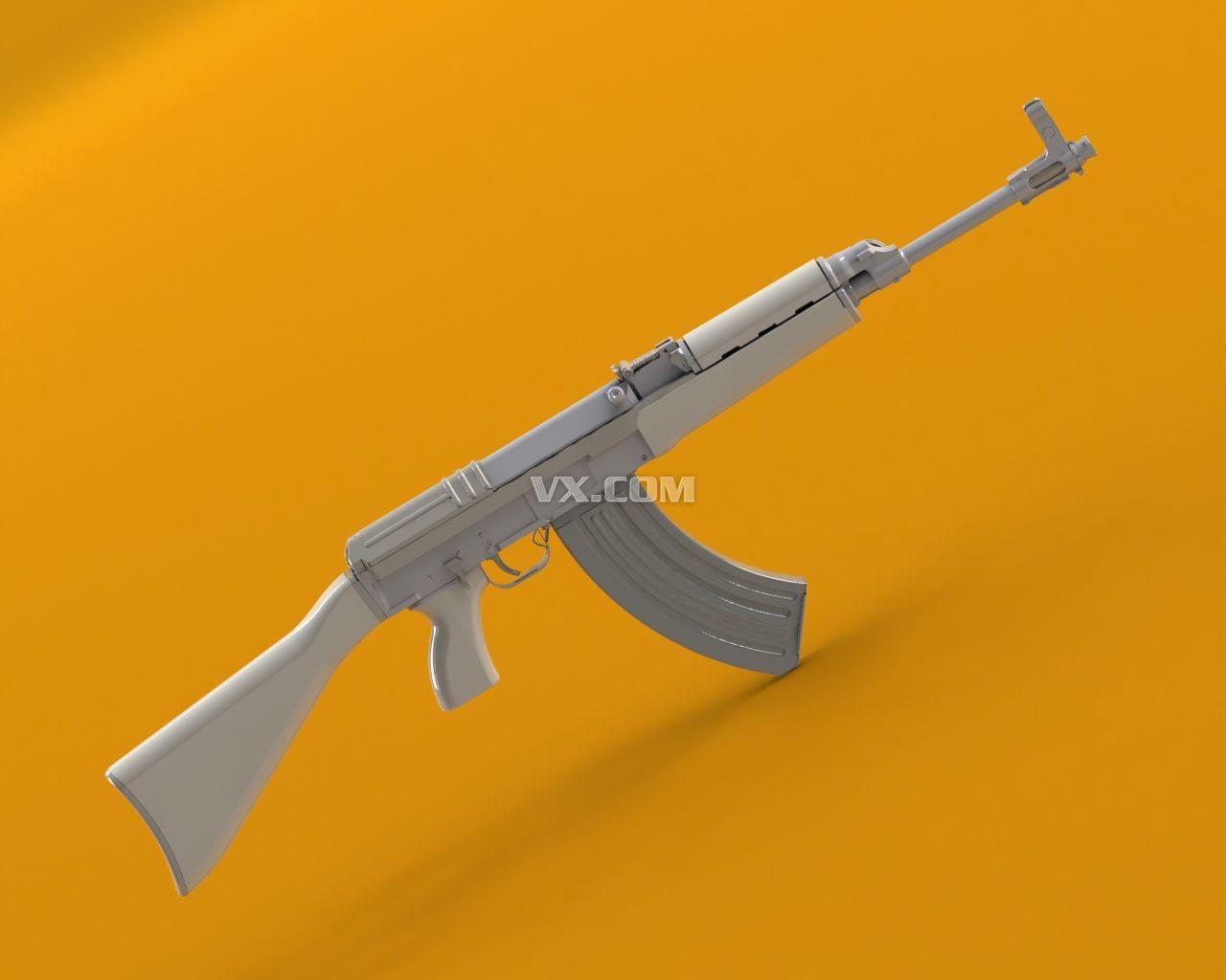 Solidworks Ak47突击步枪简笔画内容图片展示 Ak47突击步枪简笔画图片下载