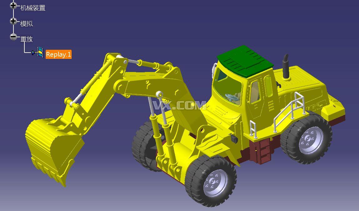 catia挖掘机_catia_交通工具_3d模型_图纸下载_微小网