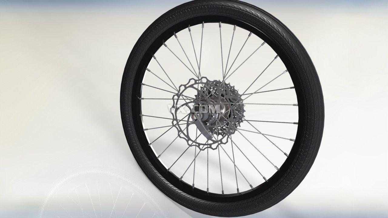 自行车车轮3d模型