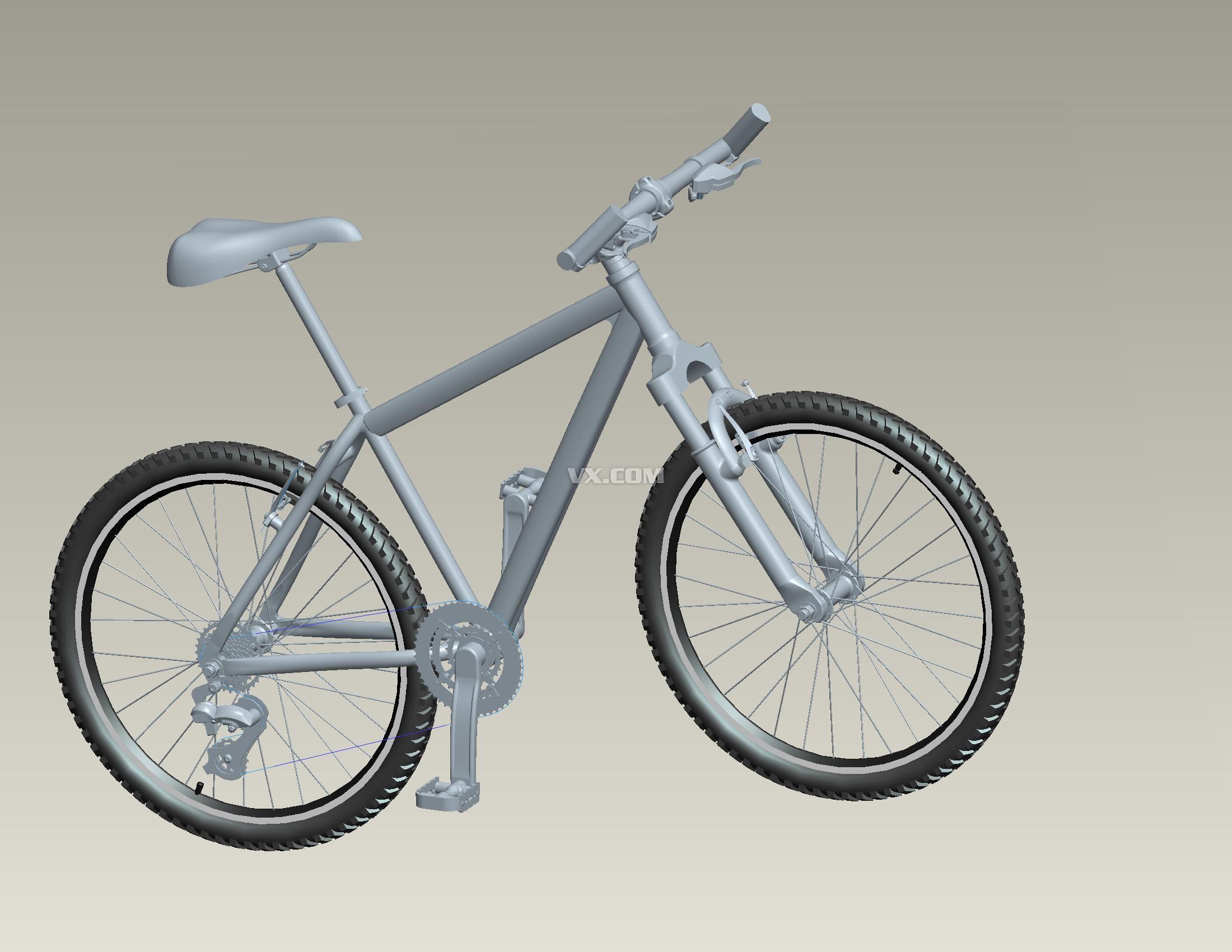 设计图黑白自行车展示