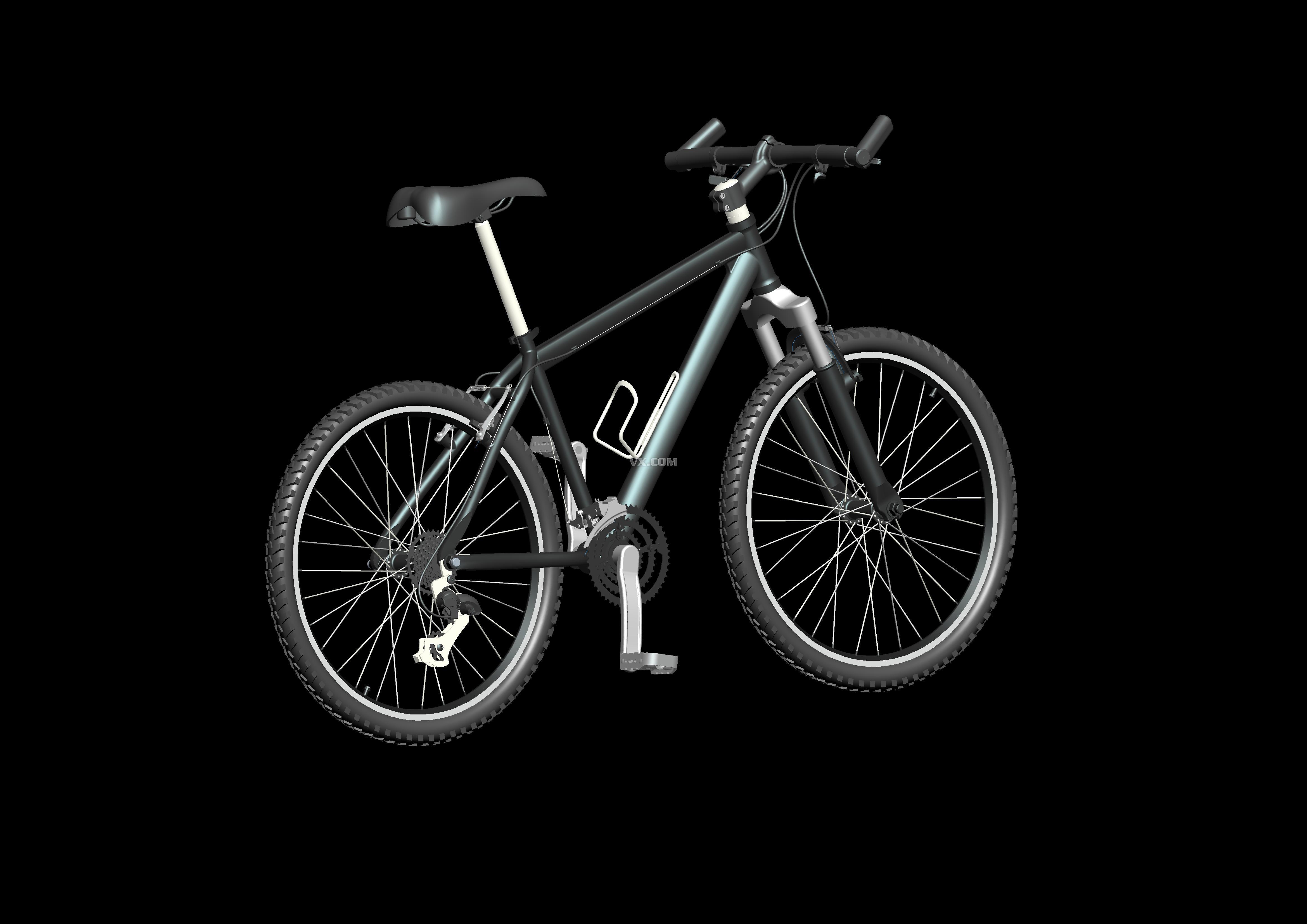 自行车_pro/e_生活设施_3d模型_图纸下载_微小网