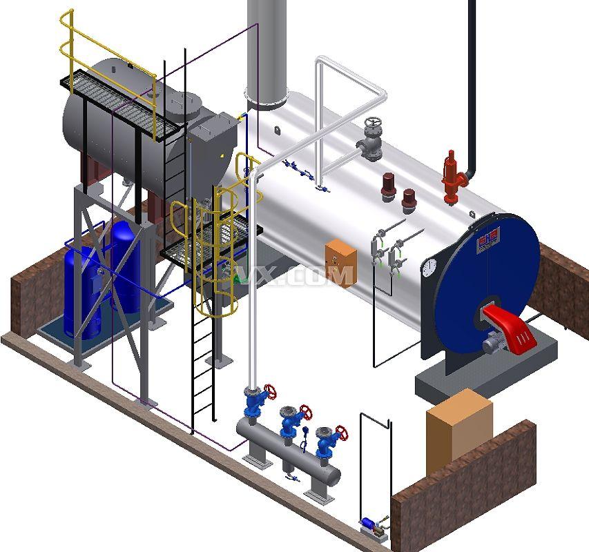 锅炉房设计图纸_pro/e