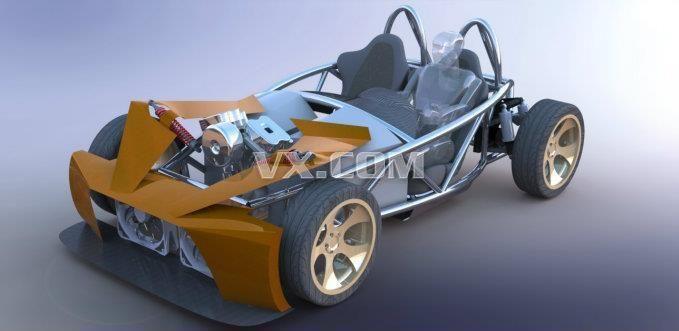 越野车底盘结构图