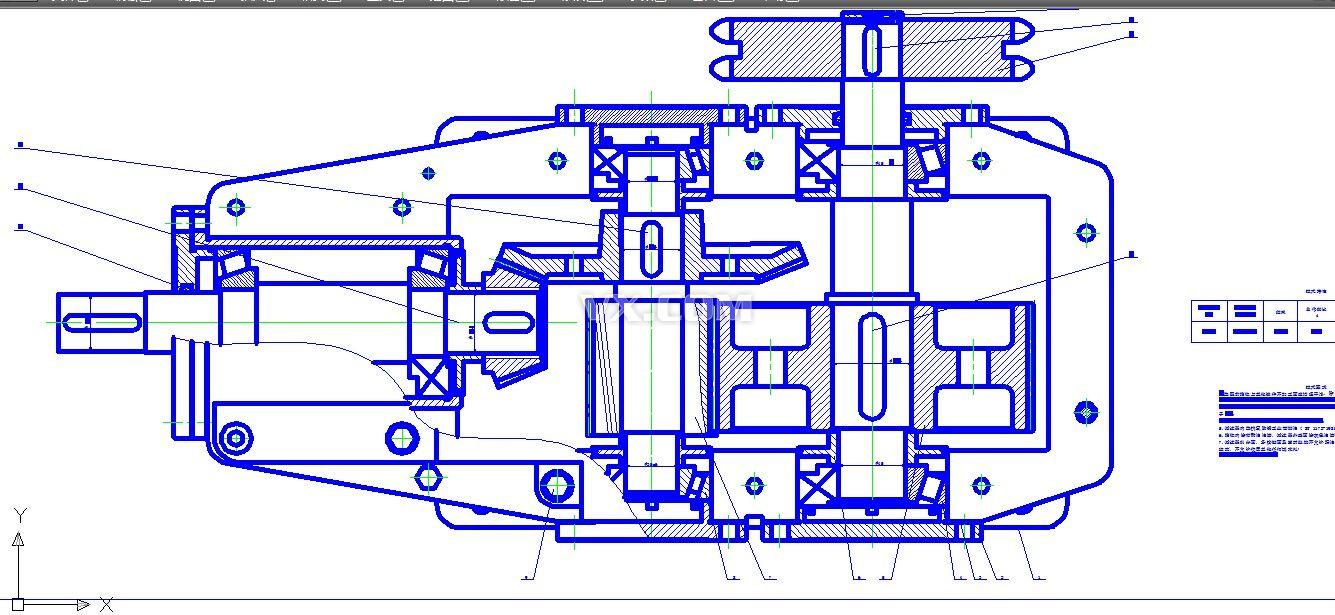 二级减速器装配图