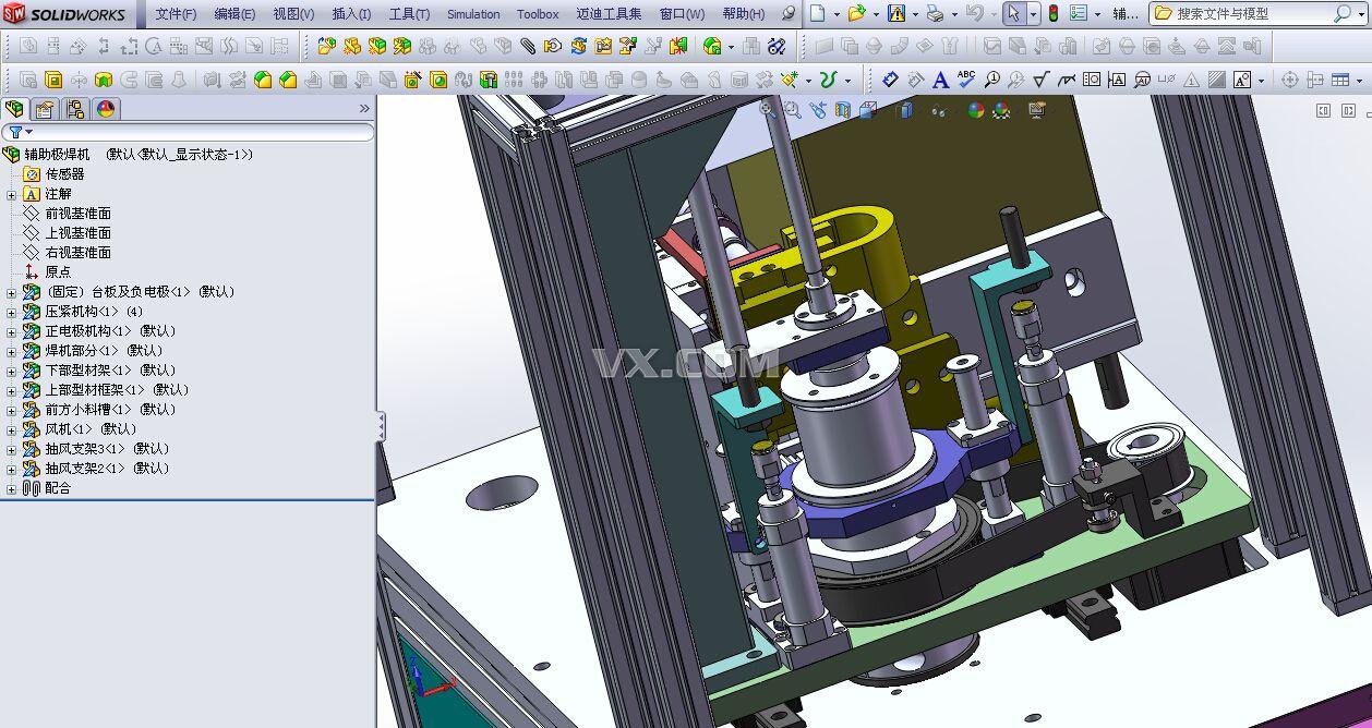 自动焊接机_solidworks
