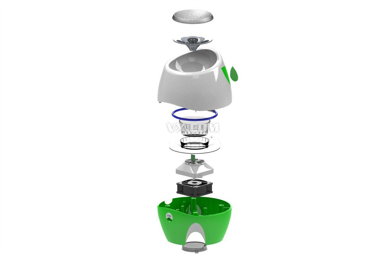 空气净化器设计图纸_inventor_家用电器_3d模型_图纸