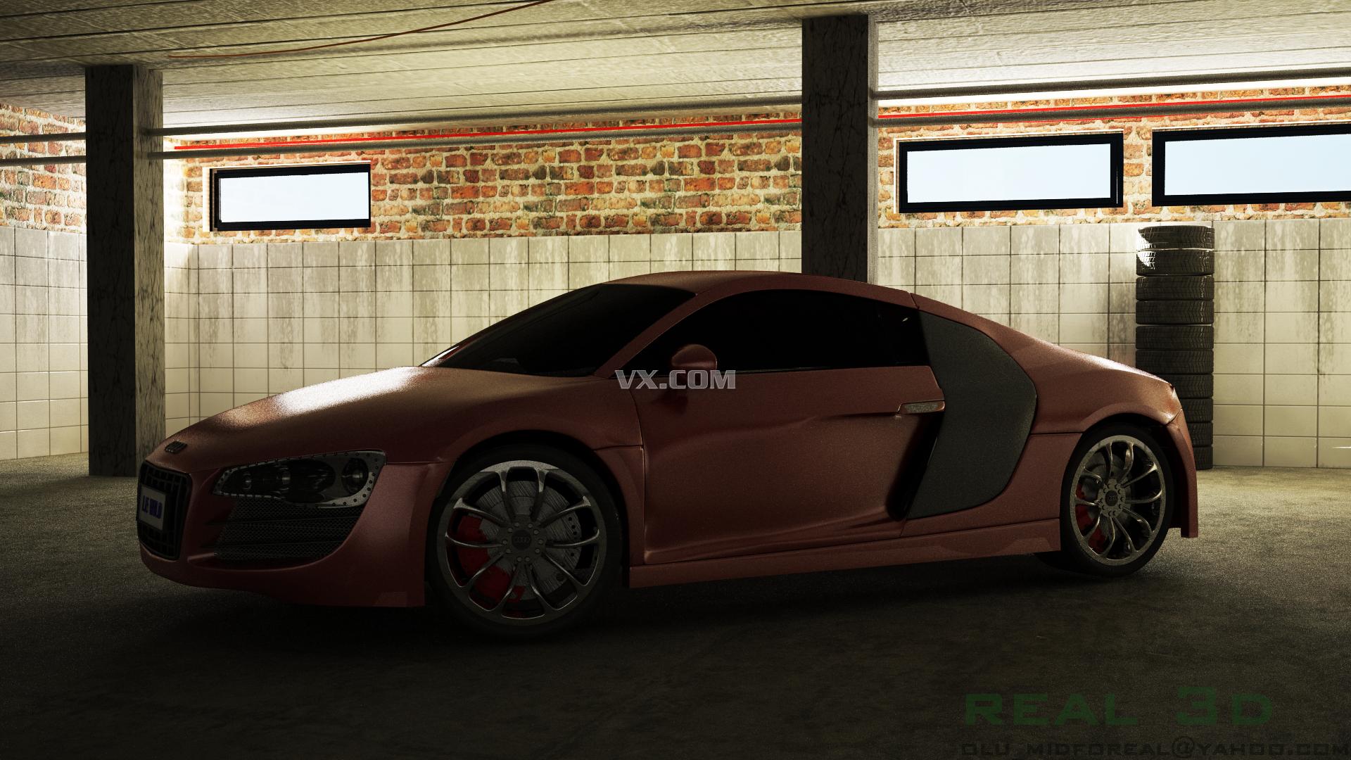 奥迪汽车设计图纸_autocad mechanical_交通工具_3d