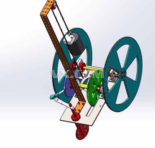 无碳小车_solidworks_机械设备