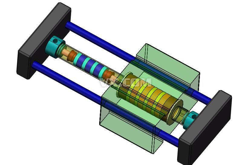 磁偶式无杆气缸设计图纸图片