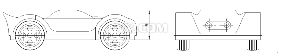 跑车组合设计图纸_solidworks_交通工具_3d模型_图纸
