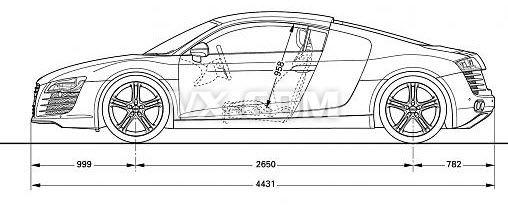 手绘汽车设计图纸展示