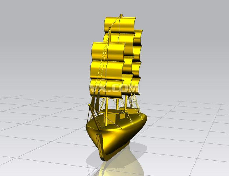 帆船(ug8.0)设计图纸_nx_交通工具_3d模型_图纸下载
