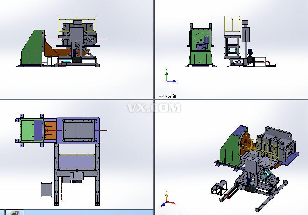 焊接变位机结构图