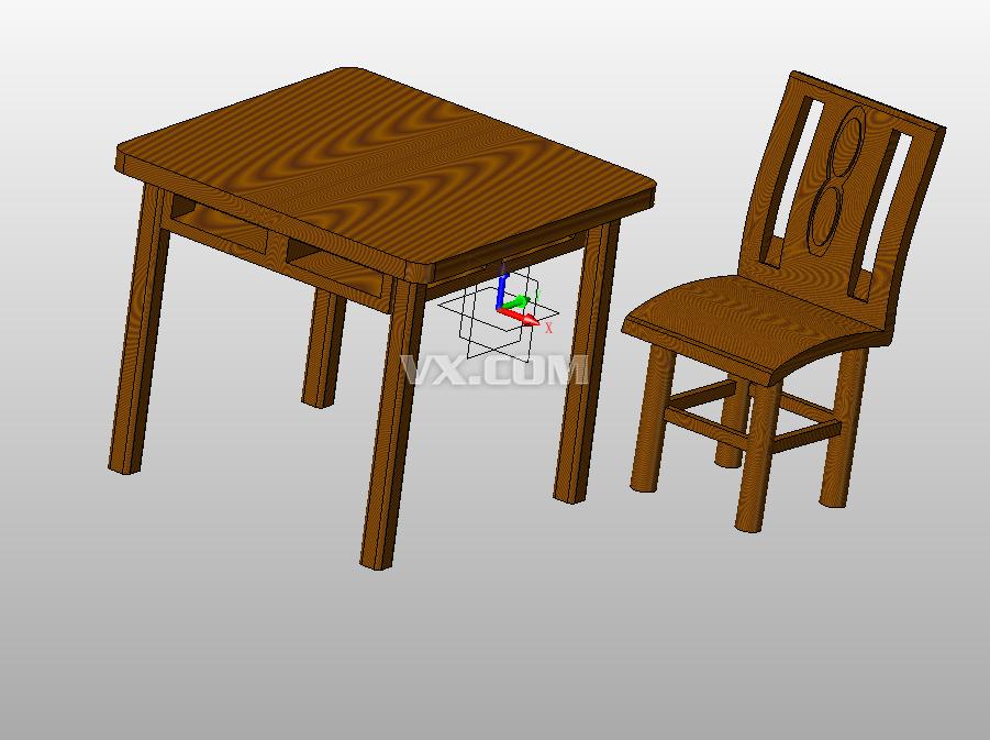 家用桌椅组合设计_中望3d_家具_3d模型_图纸下载_微小