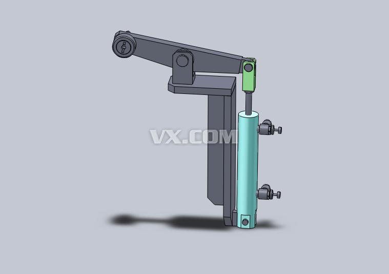 软件版本:未知    使用了单纯的连杆机构和气缸的反转升降机构图片