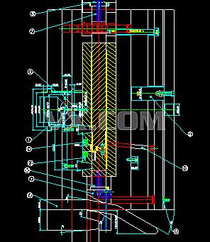 006行位顶起开模 模具结构图