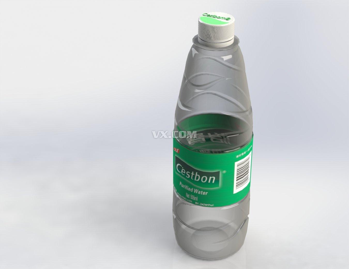 怡宝矿泉水瓶_solidworks
