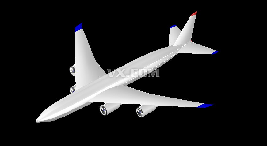 波音747飞机_autocad mechanical