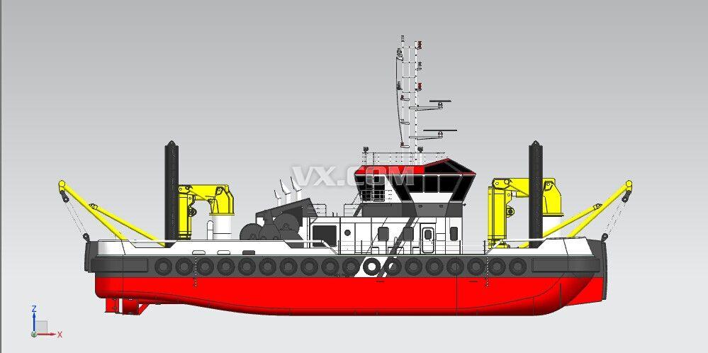 作业船_nx_交通工具_3d模型