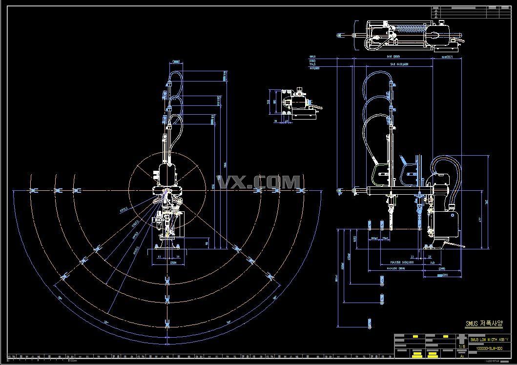 yudo-star-smus机械手cad设计图纸