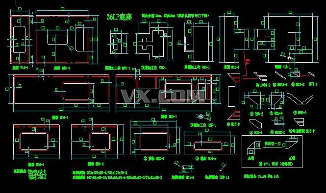 ck6136数控车床零部件图纸