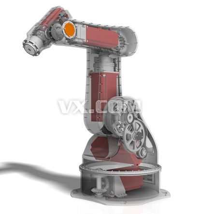 五自由度工业机械手臂机器人手臂关节机械设计图纸3d