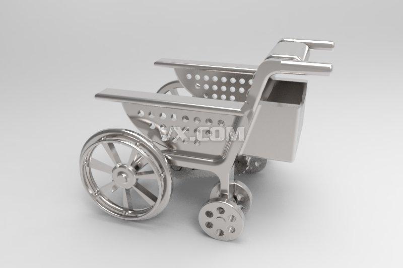 老年自动上下楼梯轮椅_solidworks_机械设备_3d模型