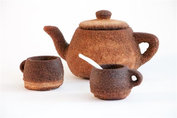 脑洞开大了:用茶叶来3D打印茶具!
