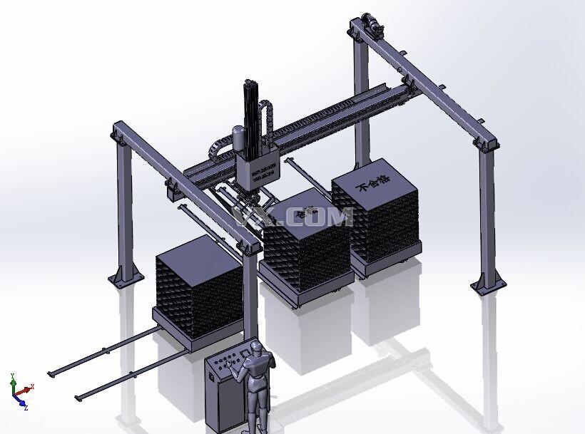 检测翻转自动化机械手装配体