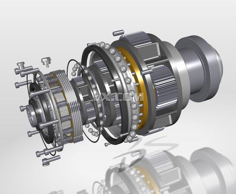 行星齿轮减速器图纸(出售版)_pro/e_机械设备_3d模型