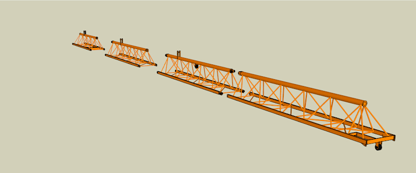 塔吊臂_sketchup_机械设备