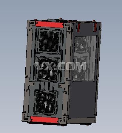 电脑机箱(主机机箱)_SolidWorks_家用电器_3D模型_图纸 ...