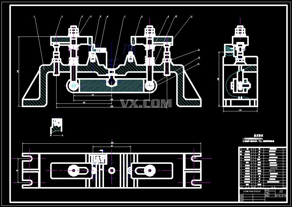双面粗铣组合机床控制电路图