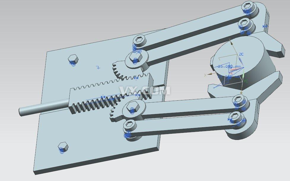 齿轮齿条机械手设计(含图片