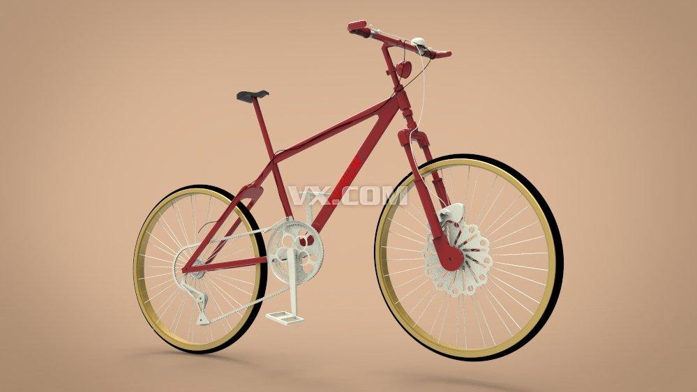 自行车_solidworks_运动器械_3d模型_图纸下载_微小网