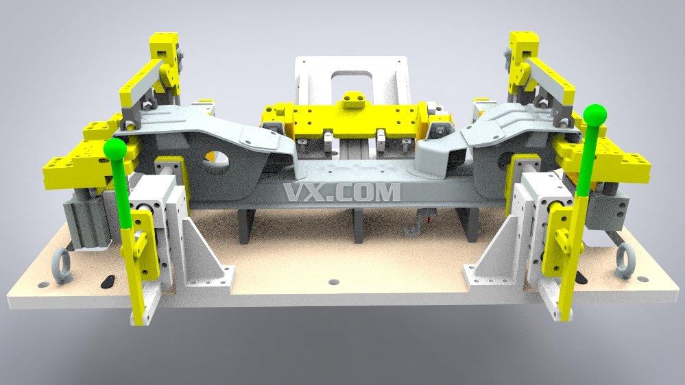 机器人汽车前轴焊夹具