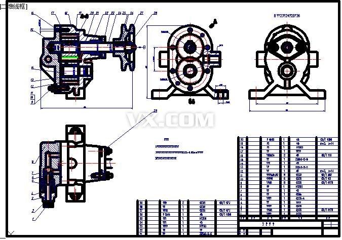 立式齿轮油泵装配图图片