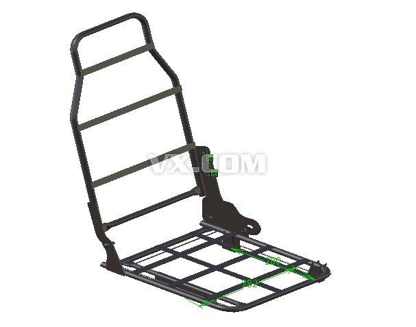 汽车座椅骨架_catia_交通工具