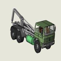 中型拖车模型
