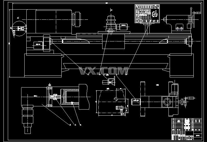 数控铲磨床纵向进给系统的设计【优秀含10张cad图纸