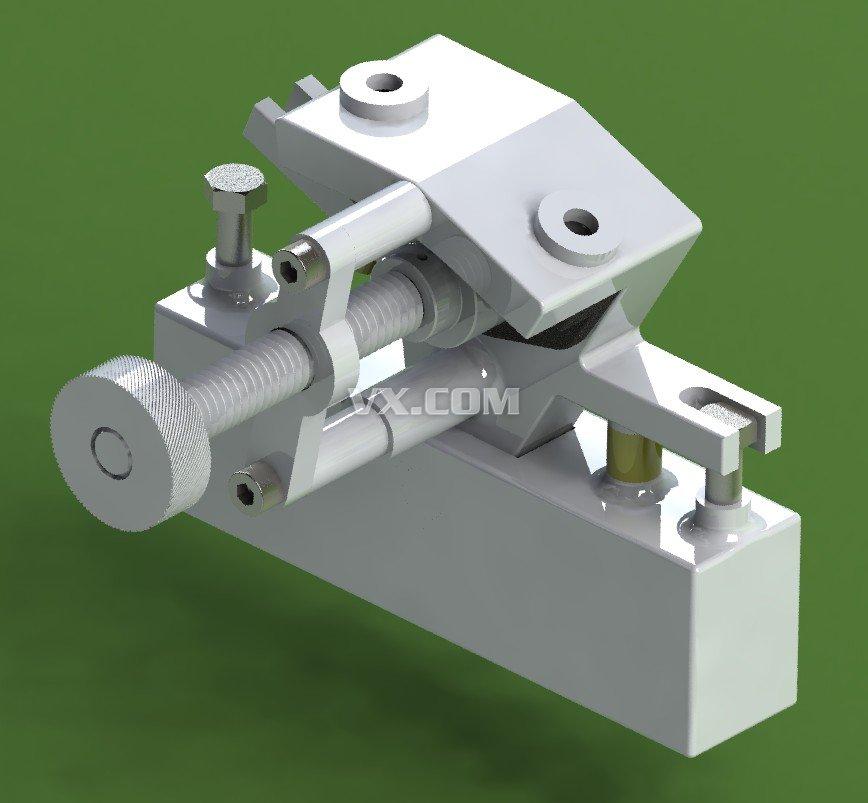 钻孔夹具设计图纸_solidworks_机械设备_3d模型_图纸