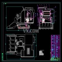4LBZ-100型水稻收割机脱粒装置改进设计CAD图纸
