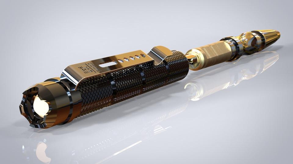 此款战术笔具有照明、书写、防卫三种功能